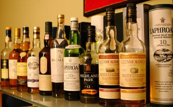 Single malt bottles