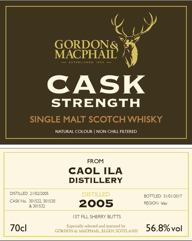 Gordon & Macphail cask strenght och caol ila